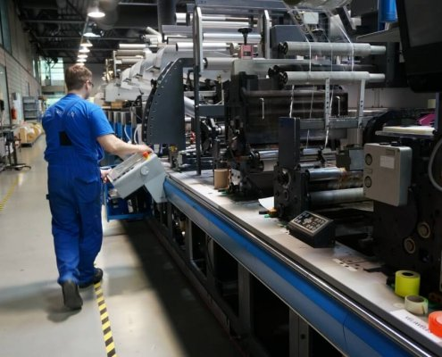 Produktionsmaschine f. Etiketten