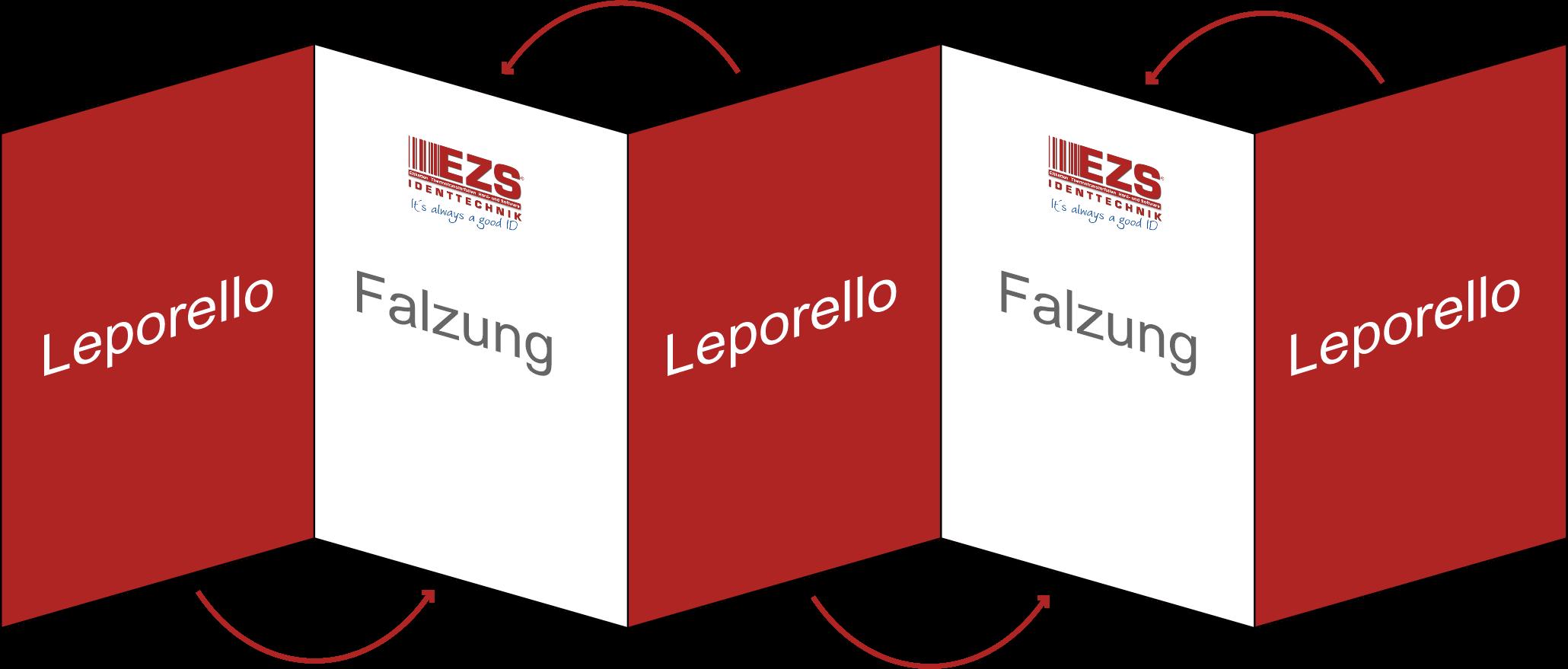 Leporello-Etikett